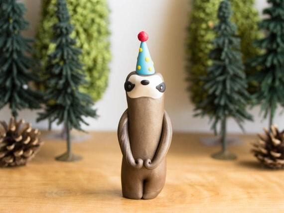 Sloth Figurine Sloth Birthday Cake Topper By Bonjour