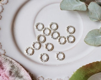 4pcs of Thai silver embossing thick ring