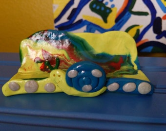 Polymer Clay Business Card Holder-One of A Kind-Cutie Snail