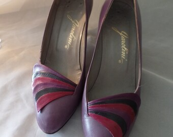 Vintage Garolini Purple Pumps Made In Italy SZ 5.5