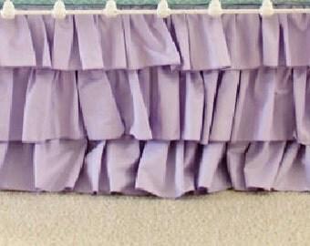 Lavender 3-Tier Ruffle Skirt