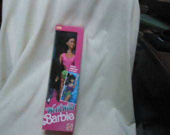 Vintage 1989 Wet N Wild Kira Barbie Doll by Mattel Sealed in Box, collectable  great Christmas gift