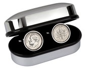 6th Wedding Anniversary Gift - 2011 US Mint 10 cent coin cufflinks.100% satisfaction guarantee