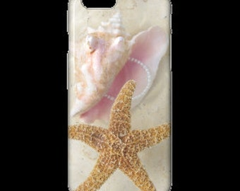 IPhone Case - Pink Conch & Starfish