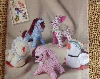 Stuffed Animal  Horse, Deer, Duck. Dog and Chicken Sewing Pattern - Simplicity Archives