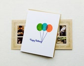 Bright Balloons Happy Birthday Card (Gocco printed)
