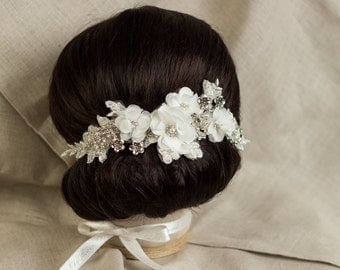 Lace Wedding Hair comb Bridal Headpiece Bridal Hair comb Flower Wedding Hair Piece Lace hair piece Bridal Hair Accessories Bridal hairpiece