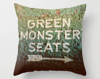 Green Monster Seats - Fenway Park - Boston Red Sox - Green Monster Pillow Case - Red Sox Decor - Baseball - Green Pillow - Home Decor