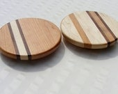 Signature Stripe Lazy Susan 10 Inch Maple or Cherry . Unique. Free Shipping