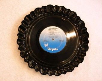Blondie Record Bowl Serving Platter - Recycled Vinyl Rock Music Album