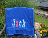 Personalized Towel, Boy Towel, Girl Towel, Name Towel, Kids Bath Towel, Toddler Beach Towel, Swim Towel, Birthday Gift, Pool Party,