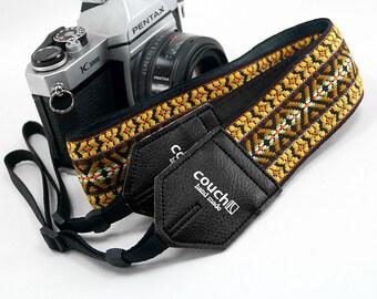 70's Sunburst Hippie Weave Boho Camera Strap -Dylan Style