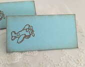 Airplane Place Cards Blue Placecards Food Buffet Signs Set of 10