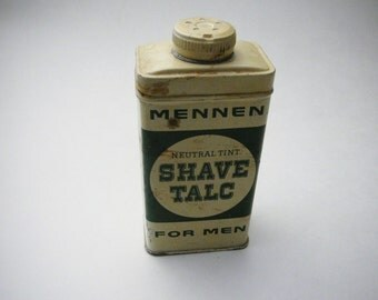 Mennen Tin Men's Shave Talc Neutral Tint For Men