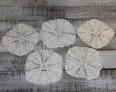 Set of 5 Handmade Crochet Vintage Doilies