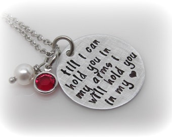 Memorial Jewelry - Infertility - Miscarriage - Quote Jewelry - Hand Stamped Necklace
