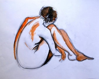 Life drawing - sitting, thinking