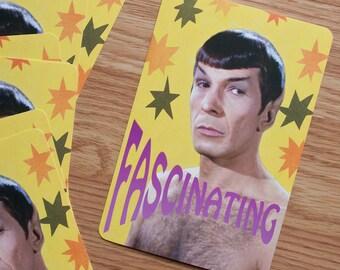 Spock Pin-Up Postcard