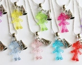 Cheerleading Party Favors 10 Party Favors Mixed Colors Necklaces, Children's Jewelry, Birthday Party, Cheer Party