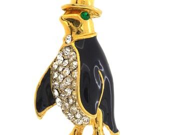 Golden Penguin Brooch Pin 1004661