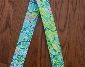 CAMERA STRAP in Lilly Pulitzer Sky Blue Blue Heaven