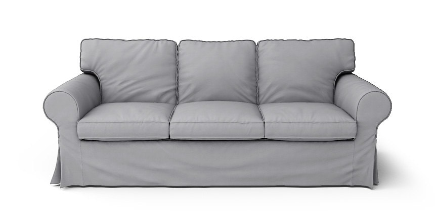 Ikea Ektorp 3 Seater Sofa Bed Slipcover Only In Gaia Fog 100