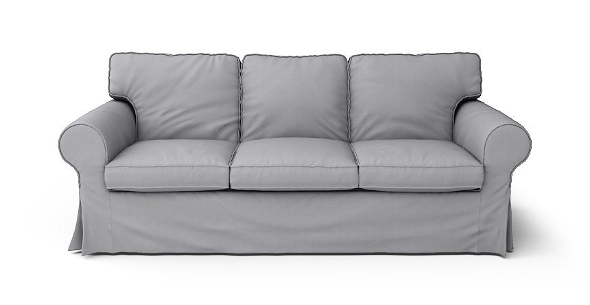 Ikea ektorp 3 seater sofa bed slipcover only in gaia fog 100 for Ikea sofa slipcovers discontinued