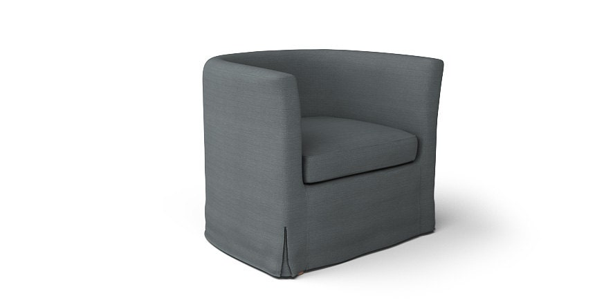 ikea solsta olarp armchair slipcover only in kino charcoal. Black Bedroom Furniture Sets. Home Design Ideas