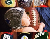 Newborn baby NFL football helmet