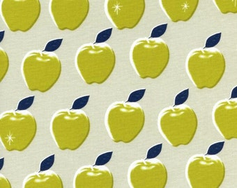SALE Apples in citron from the Picnic collection by Melody Miller for Cotton + Steel