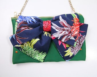 Bow clutch,Bow bag,Butterfly purse,bag with bow,bridesmaid bag