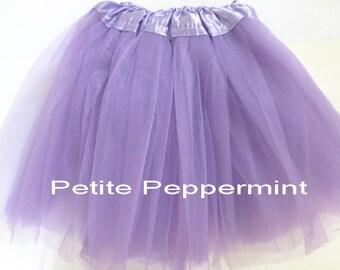 Lavender Tutu Skirt - Toddler Tutu - Birthday Outfit - Girl Tulle Skirt - Girl Tutu - Birthday Tutu - Toddler Girl Skirt - 3T 4T tutu