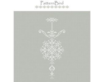 Christmas Motif. Instant Download PDF Cross Stitch Pattern