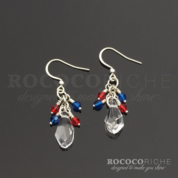 4th of july earrings july 4th earrings fourth of july earrings july fourth 5481