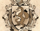 Fox Coat Of Arms Heraldry Art Print