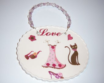 Ceramic Diva Love Wall Plaque