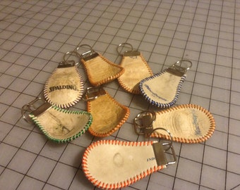 Key chain made from a used baseball