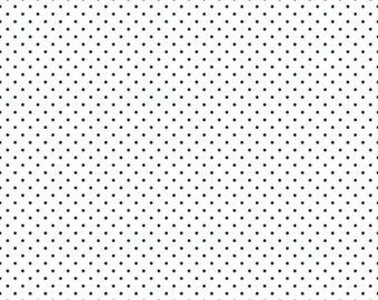Navy Polka Dot Fabric - Riley Blake Swiss Dots - Navy Dot Fabric - Navy and White Dot Fabric By The 1/2 Yard