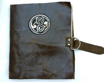 Doctor Who Inspired Leather Journal; The Book of Rassilon