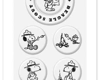Peanuts Beagle Scout Snoopy Stamps - Switchable Middle Stamps, Clear Stamps