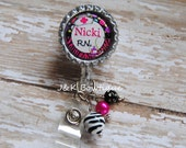 You pick job title and name - Retractable Badge Reel