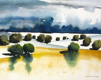 Monsoon - Original Watercolor Painting