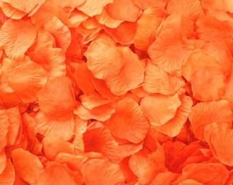 Silk Rose Petals ORANGE 500 Wedding Decoration Flower Girl Reception Table