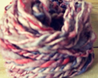 Handspun Hand Dyed Purple and Red Cotswold Yarn: Sonoma Valley I