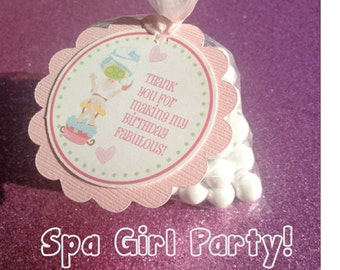 Spa Party Gift Tags, Spa Party Thank You Tags, Thank You Gift Tags, Salon Party