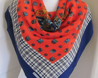 "Missrose Lovely Red Blue White Soft Poly Scarf - 32"" Inch 81cm Square - OMG My Fav"