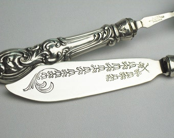 50% Off Sterling Silver Grapefruit Spoon and Spreader / Silver Individual Breakfast Set