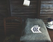vintage australian grey wool blanket - double