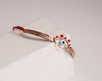 thin evil eye bracelet -free shipping