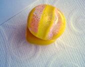 Magnets Lemon Glitter Dichroic Fused Glass Handmade Magnets Fused Glass Color Shifting Glass Magnets Yellow Kitchen Glass Magnets Office